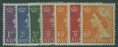 AUS SG261-3a Queen Elizabeth II Definitive set of 7 1953